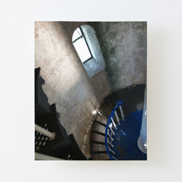 South Solitary Island Lighthouse Spiral Staircase Canvas Mounted Print