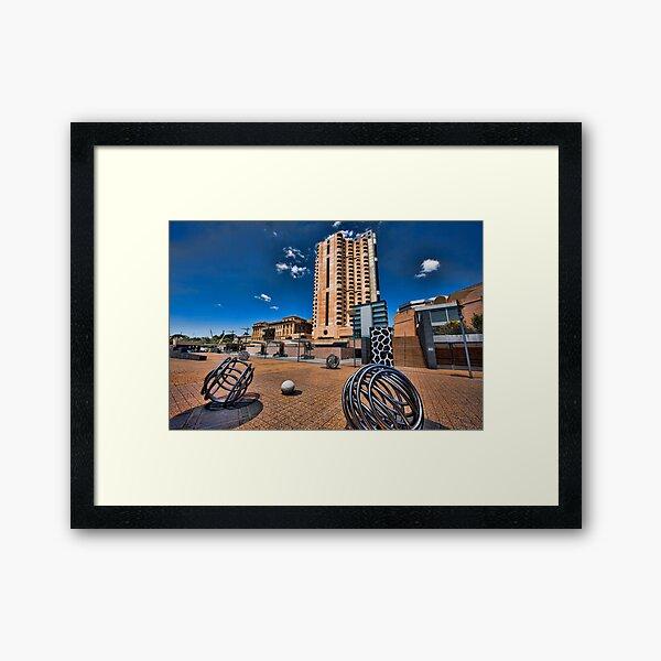 Adelaide Riverbank precinct Framed Art Print