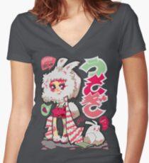 usagi Women's Fitted V-Neck T-Shirt