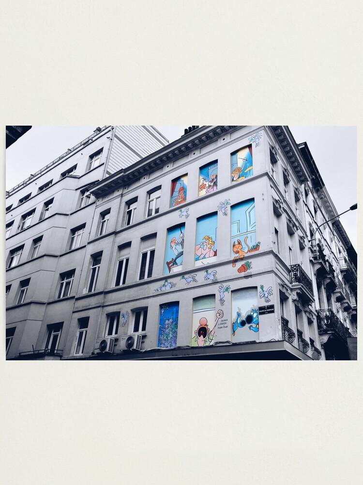 Alternate view of Rue Philippe de Champagne, Bruxelles, Belgium. Photographic Print