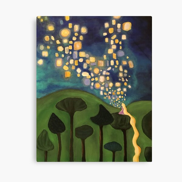 Tangled Floating Lanterns Canvas Print