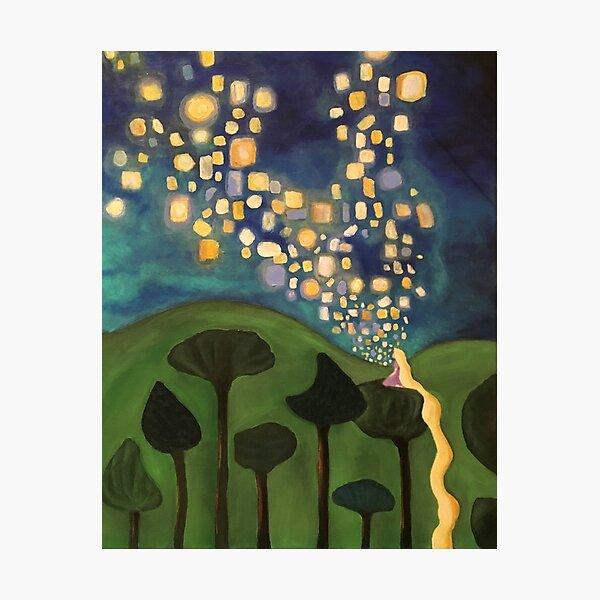 Tangled Floating Lanterns Photographic Print