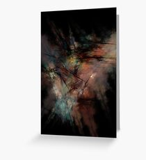 Dark and Gritty Abstract Black Clouds Greeting Card
