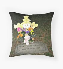 My Baby Sister's Grave - Remembering Her on Her BD Throw Pillow