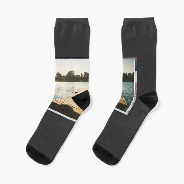 Modern travel Minnesota State Lake Superior Boating Socks Mens Womens Casual Socks Custom Creative Crew Socks