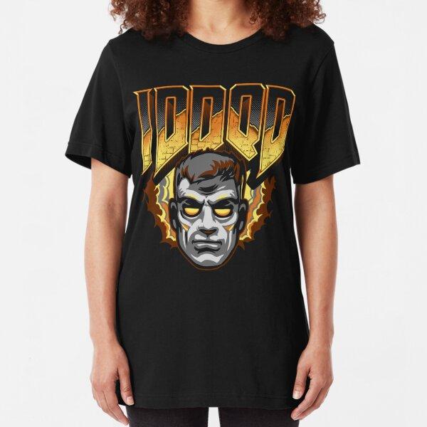 IDDQD - GOD MODE Slim Fit T-Shirt