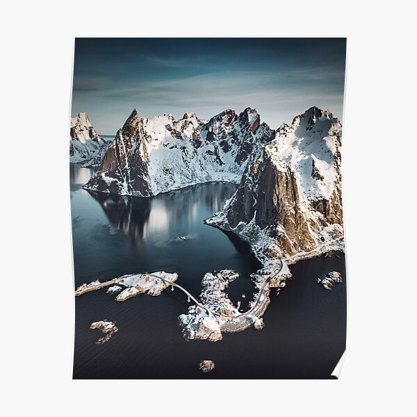 aerial view of the lofoten islands Poster
