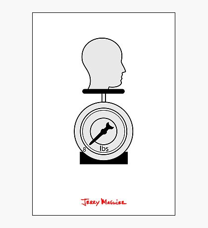Jerry Maguire - Minimal Poster Photographic Print