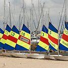 Sail boats in a row by Mick Kupresanin