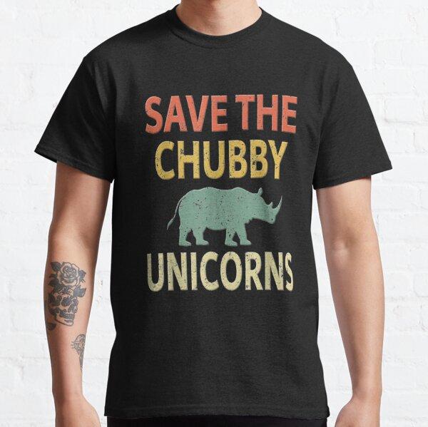 Save The Chubby Unicorns. Vintage Retro Colors   Classic T-Shirt