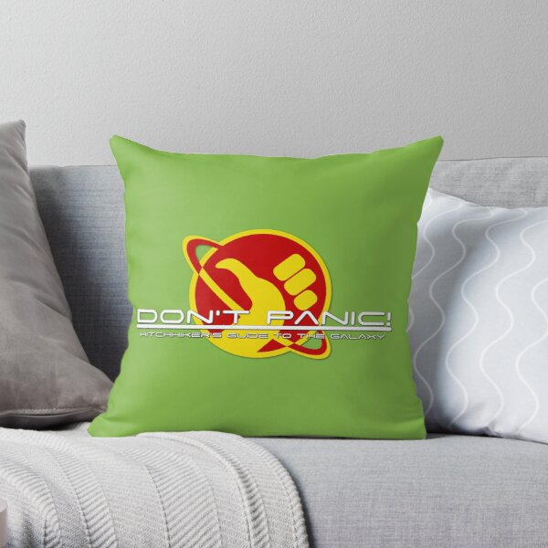 Hitchhiker's Guide Space Age Throw Pillow