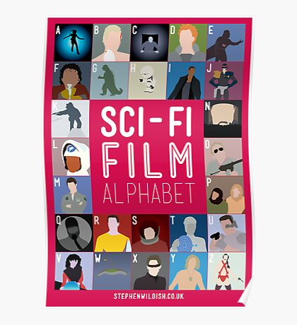 The Sci-fi Film Alphabet Poster