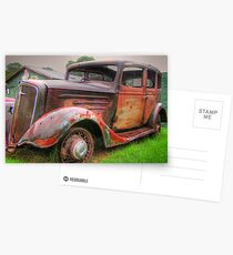 Bonnie and Clyde getaway car Postcards
