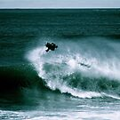 Big Air Forward Spin at Shark Island by Andrew  MCKENZIE