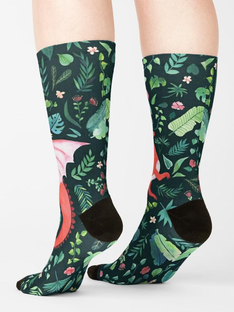 Alternate view of Tropical Dragon Socks