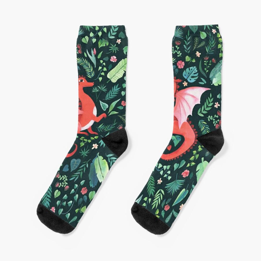 Tropical Dragon Socks