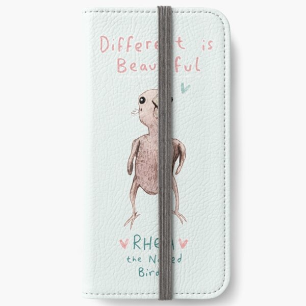 Rhea - Different is Beautiful iPhone Wallet