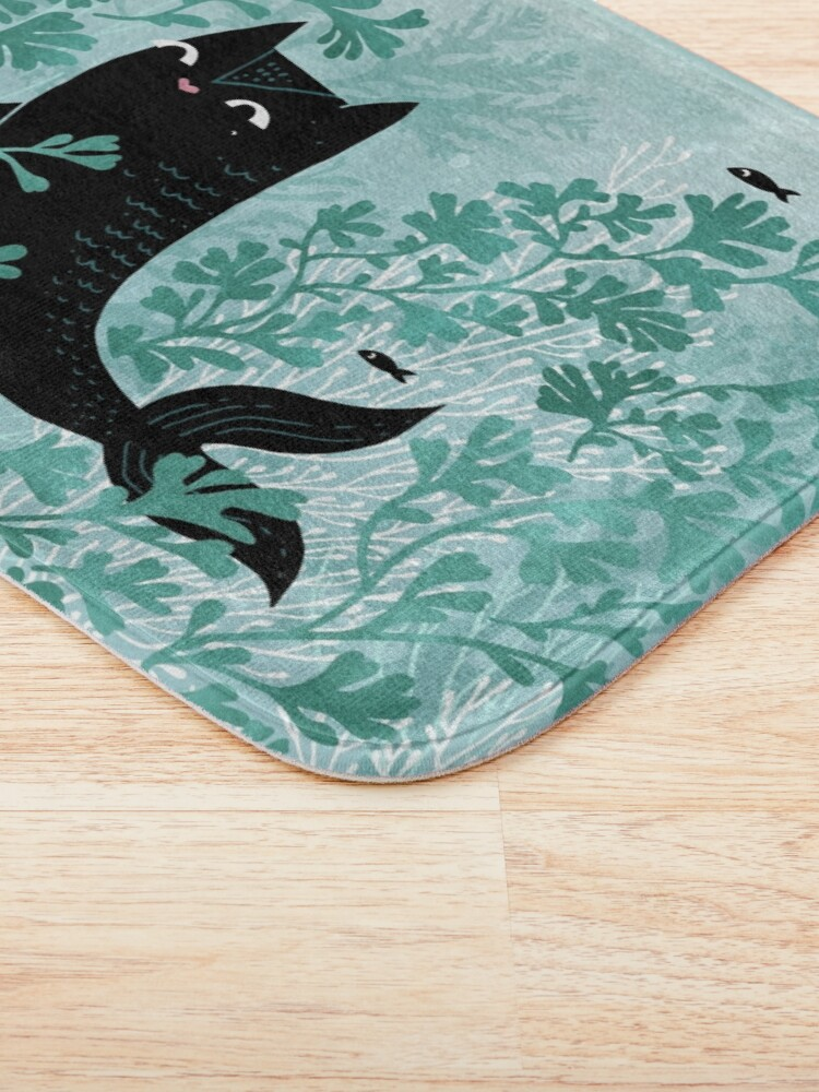 Alternate view of Undersea (Mint Remix) Bath Mat