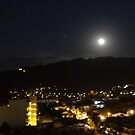 Full Moon with the Planet Mars above the Sierra Madre 7th of March 2012 by PtoVallartaMex