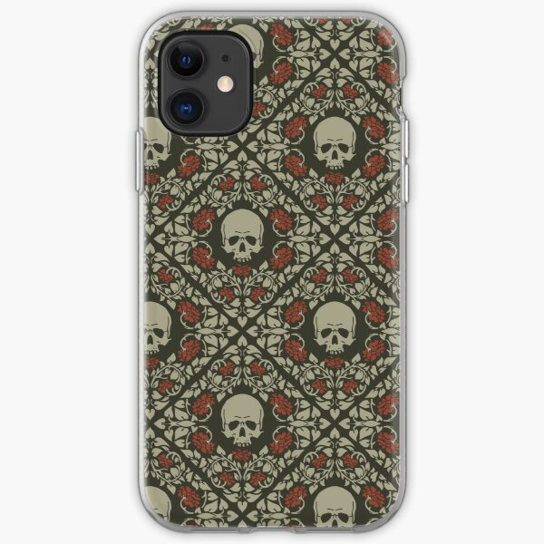 Skulls and roses iPhone Soft Case