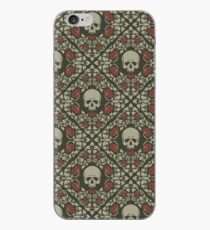 Skulls and roses iPhone Case