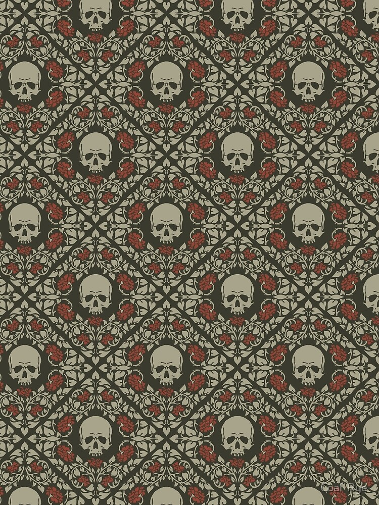 Skulls and roses by juliacoalrye
