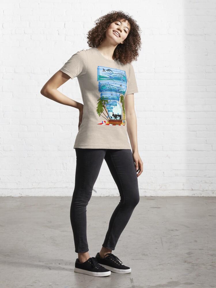 Alternate view of DESKTOP PARADISE Essential T-Shirt