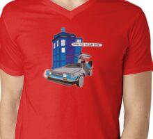 Time Travel Jump Start Mens V-Neck T-Shirt