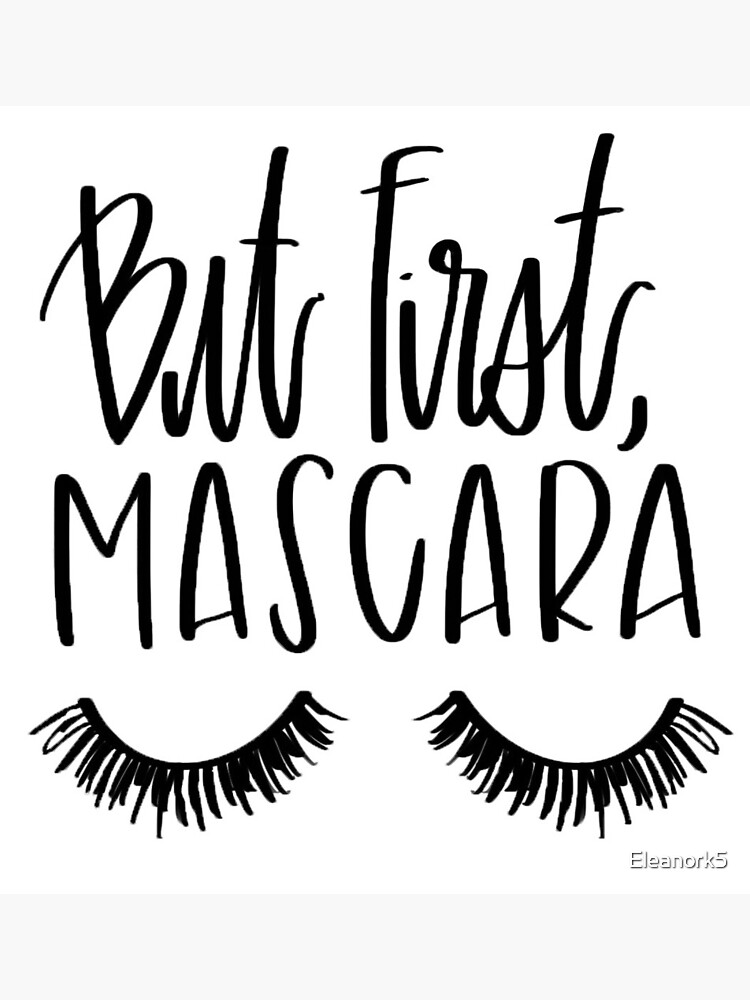 35+ But First Mascara DXF