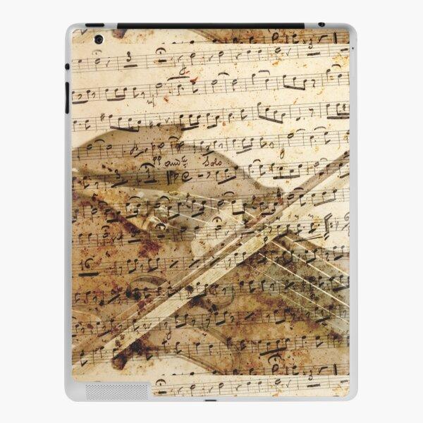 Violin musical note background iPad Skin