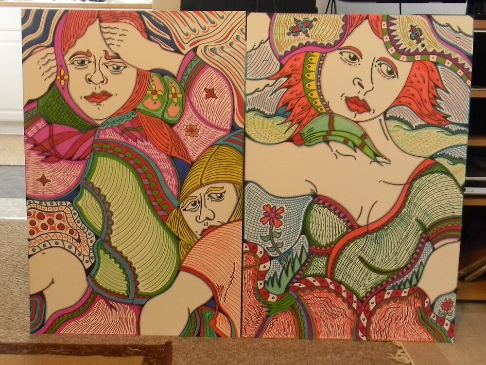 two felt tip pen art works by madvlad