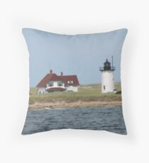 Lighthouse on Shore Throw Pillow