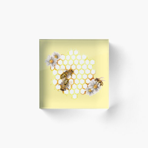 Honey Bee Acrylic Block