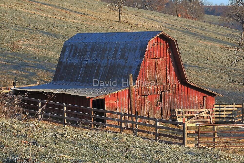 Tucked Away Barn gets first light by David  Hughes