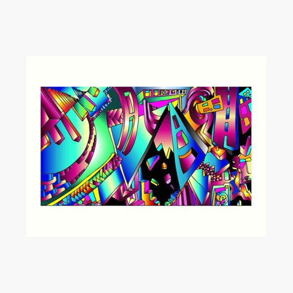 Triangle Visions Art Print