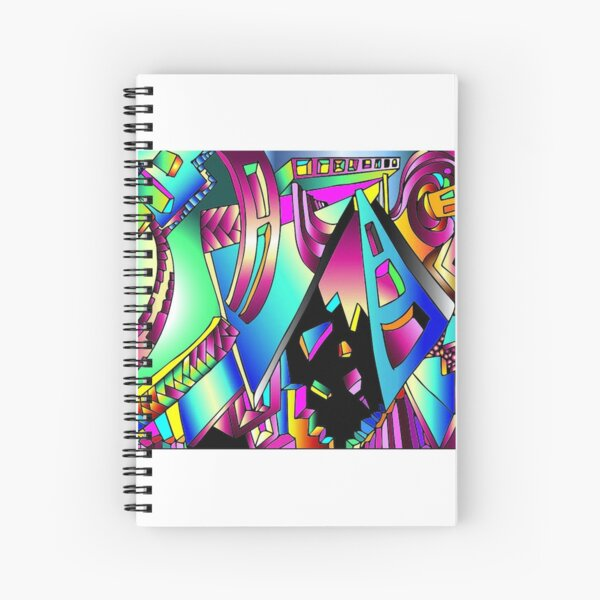 Triangle Visions Spiral Notebook