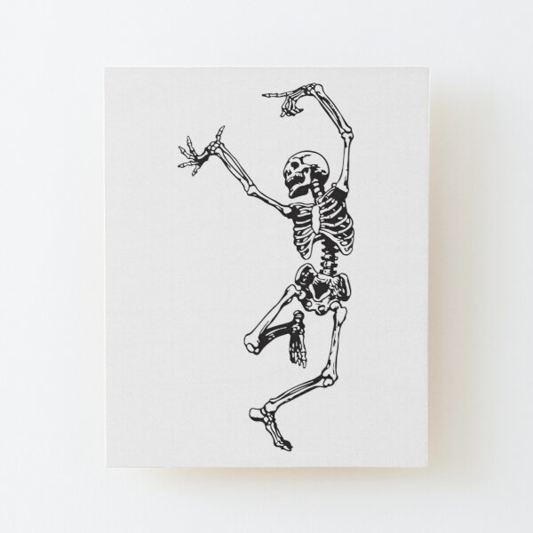 Dance With Death Wood Mounted Print