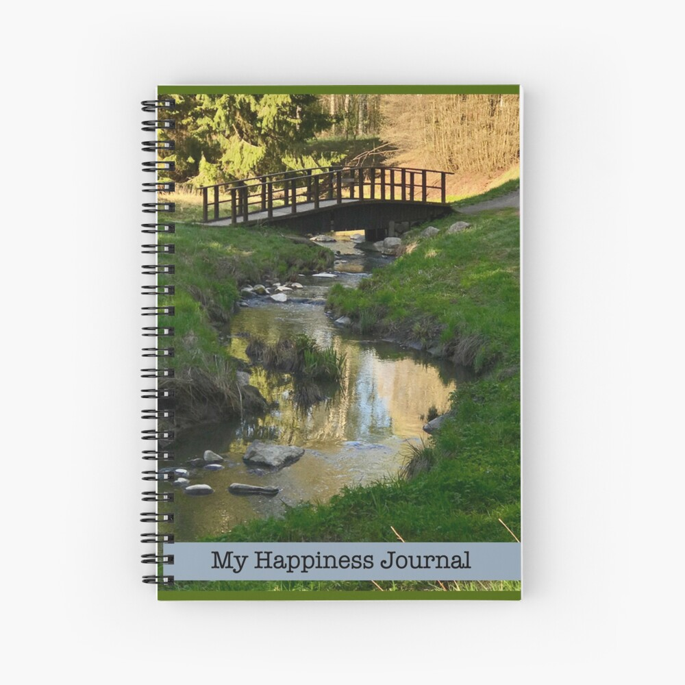My Happiness Journal Water Under the Bridge Spiral Notebook