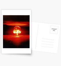 Beautiful Destruction Orange Mushroom Cloud Postcards