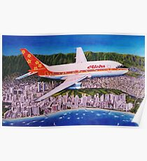 Departing Honolulu Classic Airliners Poster