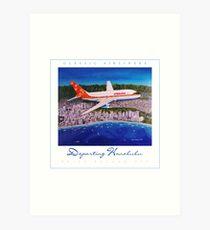 Departing Honolulu Classic Airliners ver 2 Art Print