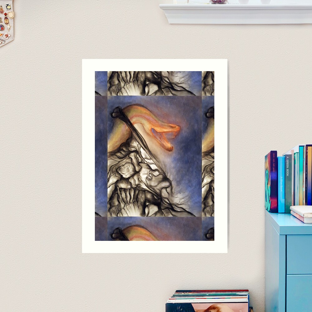 Crush. Adapted from the artist's oil pastel drawing. Art Print