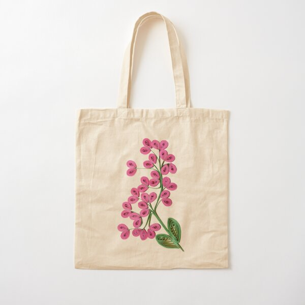 Heart Flowers  Cotton Tote Bag