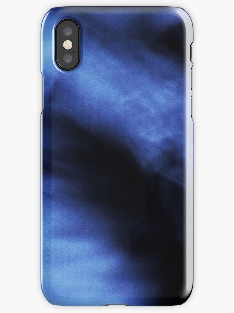 Abstract Blue iPhone by Margaret Bryant