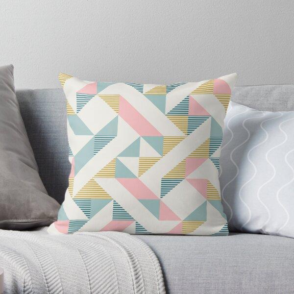 RETRO geometry 10 Throw Pillow