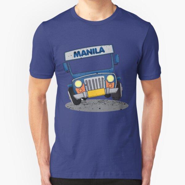 Philippine Jeepney cartoon Slim Fit T-Shirt