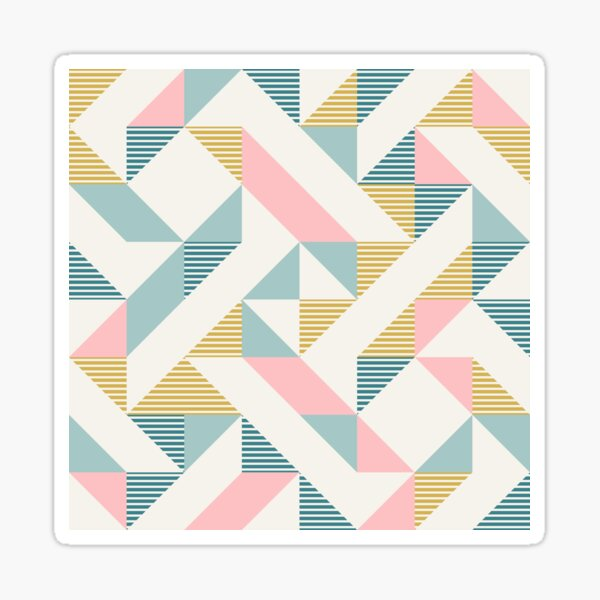 RETRO geometry 10 Sticker