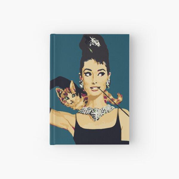 Breakfast at Tiffanys   Audrey Hepburn Blue Hardcover Journal