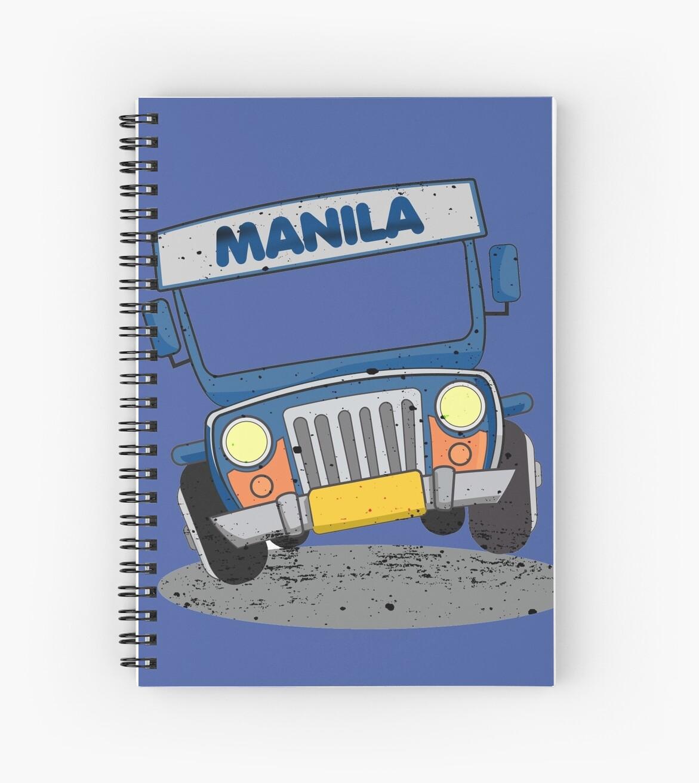 Philippine Jeepney Cartoon Spiral Notebooks By Eli Avellanoza
