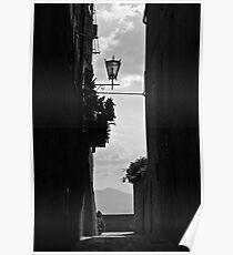 Walking around Pienza. Poster